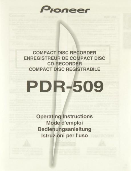 Pioneer PDR-509 Bedienungsanleitung