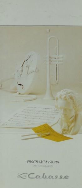 Cabasse Programm 1983/84 Prospekt / Katalog