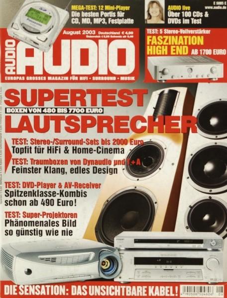 Audio 8/2003 Zeitschrift