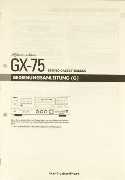 Akai GX-75 Bedienungsanleitung