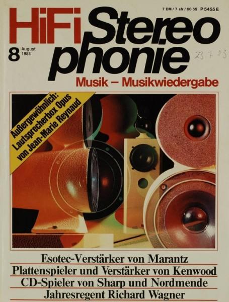 Hifi Stereophonie 8/1983 Zeitschrift