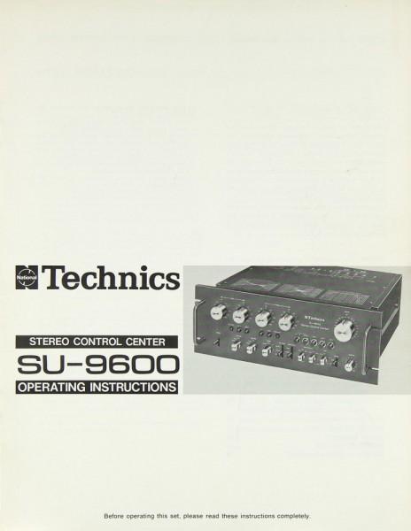 Technics SU-9600 Bedienungsanleitung