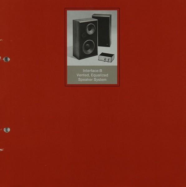 Electro-Voice Interface: B Prospekt / Katalog