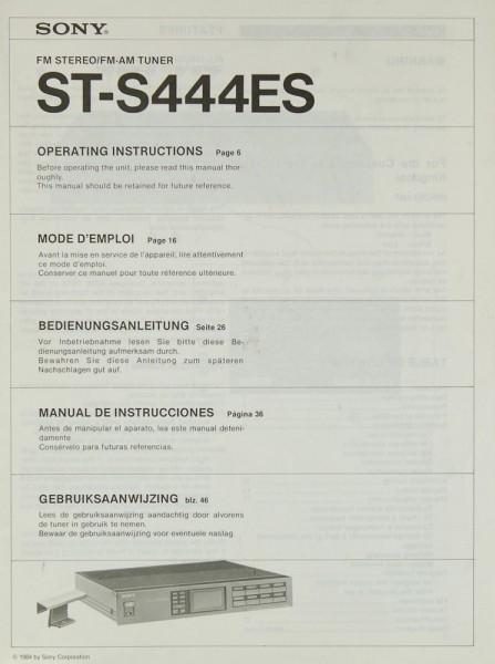 Sony STS-S 444 ES Bedienungsanleitung