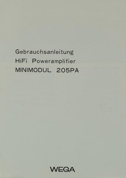 Wega Minimodul 205 PA Bedienungsanleitung