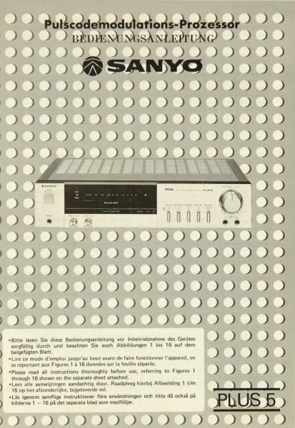 Sanyo Plus 5 Bedienungsanleitung