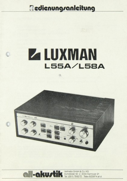 Luxman L 55 A / L 58 A Bedienungsanleitung