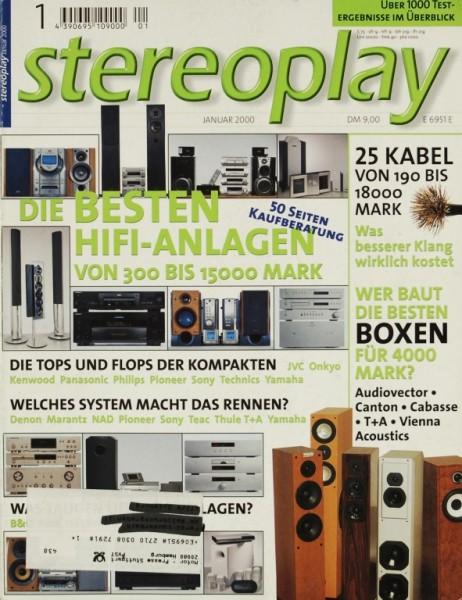 Stereoplay 1/2000 Zeitschrift