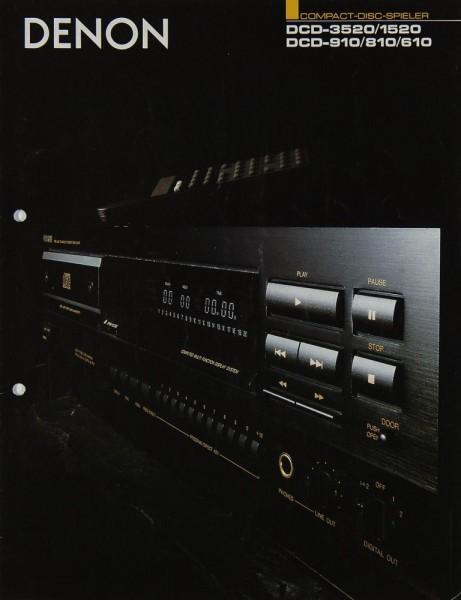 Denon DCD-3520/1520 / DCD-910/810/610 Prospekt / Katalog
