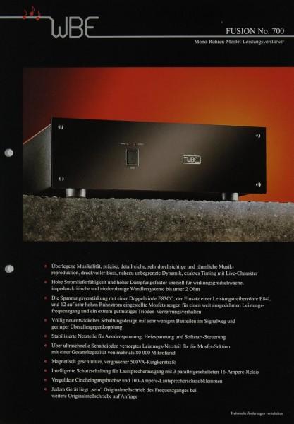 WBE Fusion No. 700 Prospekt / Katalog