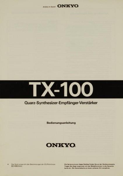 Onkyo TX-100 Bedienungsanleitung