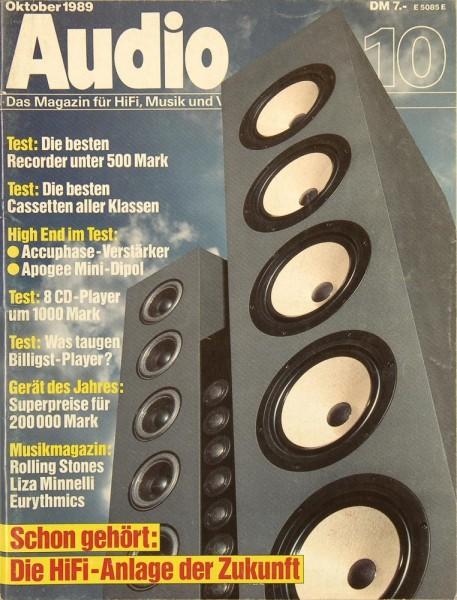 Audio 10/1989 Zeitschrift