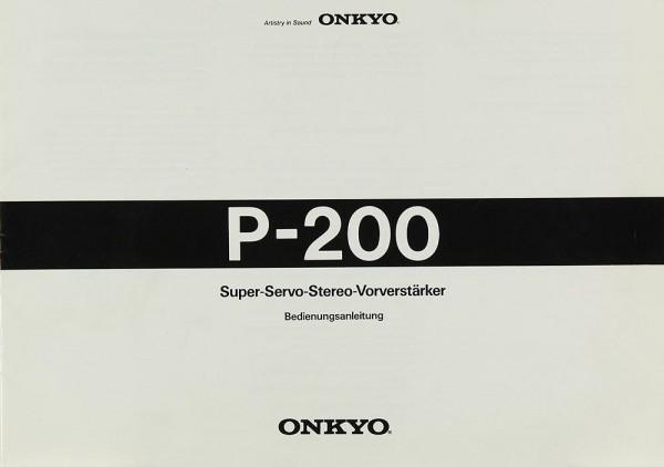 Onkyo P-200 Bedienungsanleitung