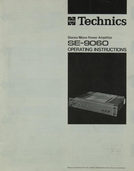 Technics SE-9060 Bedienungsanleitung
