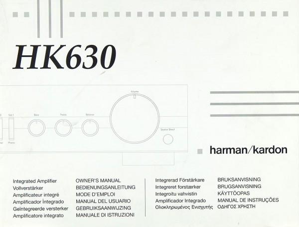 Harman / Kardon HK-630 Bedienungsanleitung