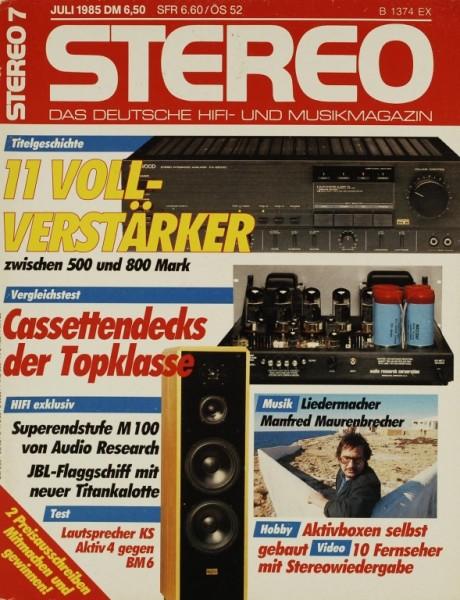 Stereo 7/1985 Zeitschrift