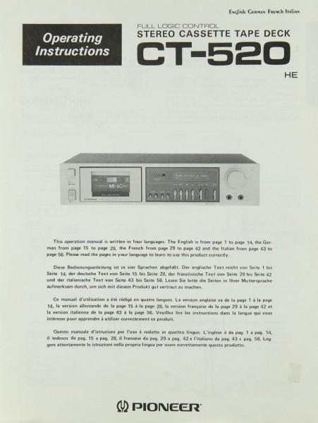 Pioneer CT-520 Bedienungsanleitung