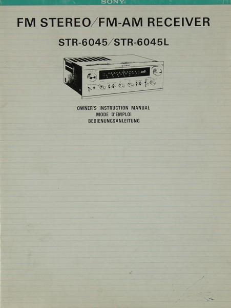 Sony STR-6045 / STR-6045 L Bedienungsanleitung