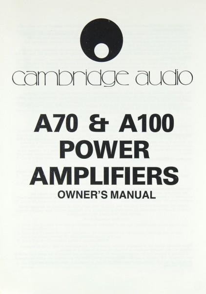 Cambridge A 70 / A 100 Bedienungsanleitung