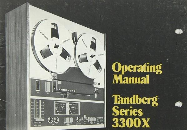 Tandberg 3300 X Bedienungsanleitung