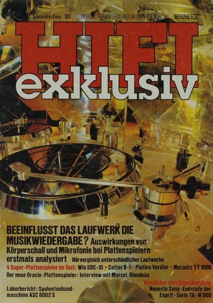 Hifi Exklusiv 12/1980 Zeitschrift
