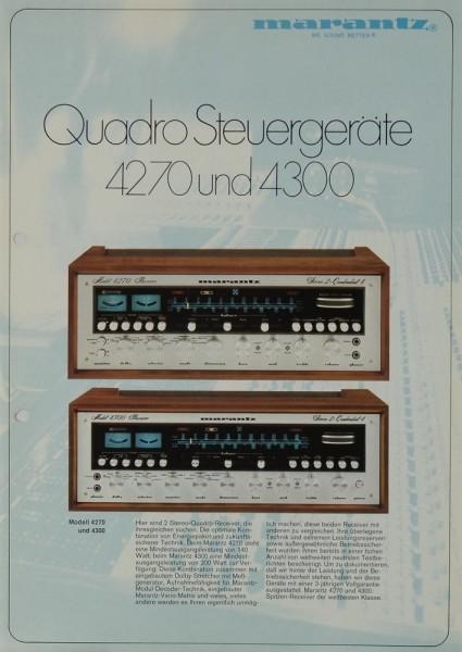 Marantz 4270 / 4300 Prospekt / Katalog