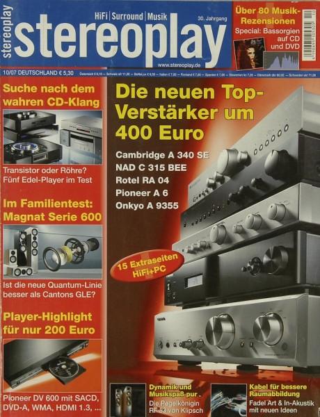 Stereoplay 10/2007 Zeitschrift