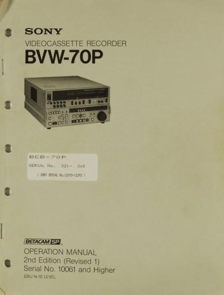Sony BVW-70 P Bedienungsanleitung
