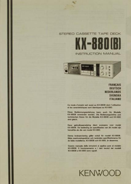 Kenwood KX-880 (B) Bedienungsanleitung