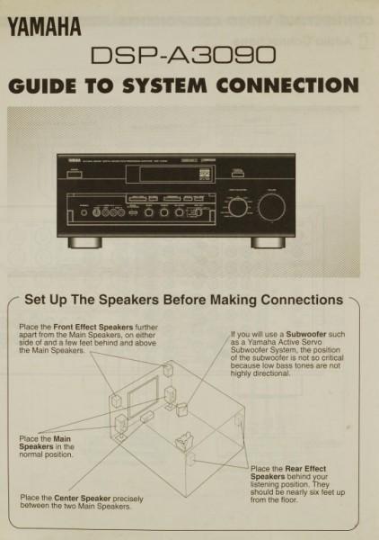 Yamaha DSP-A 3090 Bedienungsanleitung