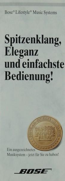 Bose Spitzenklang, Eleganz und einfachste Bedienung Prospekt / Katalog