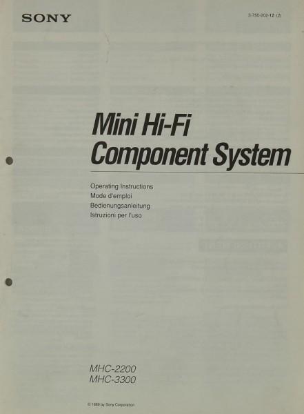 Sony MHC-2200 / MHC-3300 Bedienungsanleitung