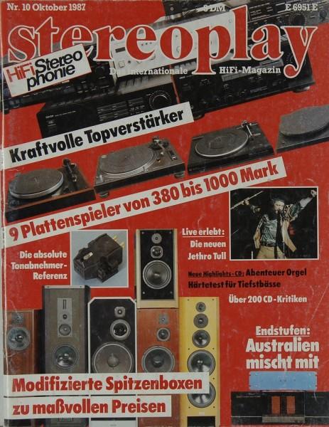 Stereoplay 10/1987 Zeitschrift