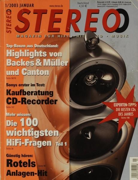 Stereo 1/2003 Zeitschrift