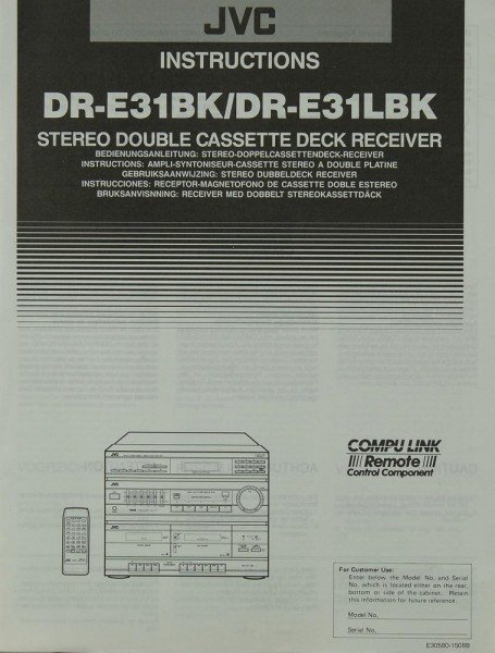 JVC DR-E 31 BK / DR-E 31 LBK Bedienungsanleitung