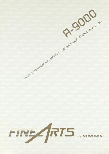Fine Arts / Grundig A-9000 Bedienungsanleitung