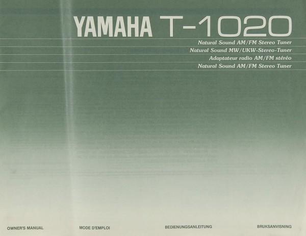 Yamaha T-1020 Bedienungsanleitung