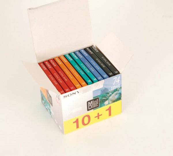 Sony MDW-74 Color Minidisc 11er Set