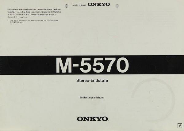 Onkyo M-5570 Bedienungsanleitung