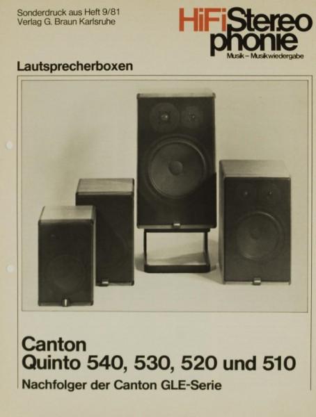 Canton Quinto 540 / 530 / 520 / 510 Testnachdruck