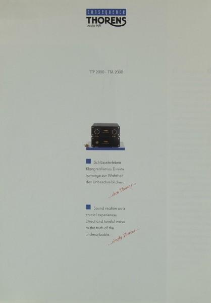 Thorens TTP 2000 / TTA 2000 Prospekt / Katalog