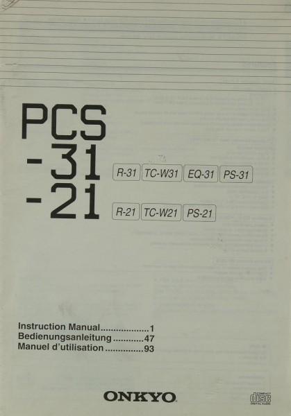 Onkyo PCS-31 / PCS-21 Bedienungsanleitung