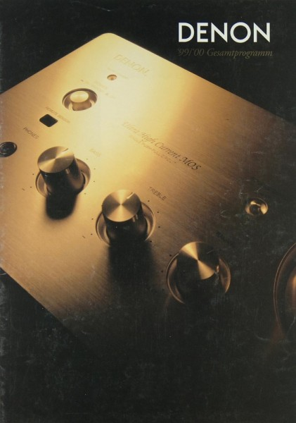 Denon Gesamtprogramm 1999/2000 Prospekt / Katalog