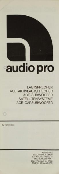 audio pro Das ACE-System Prospekt / Katalog