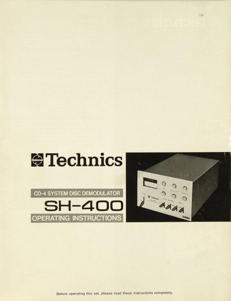 Technics SH-400 Bedienungsanleitung