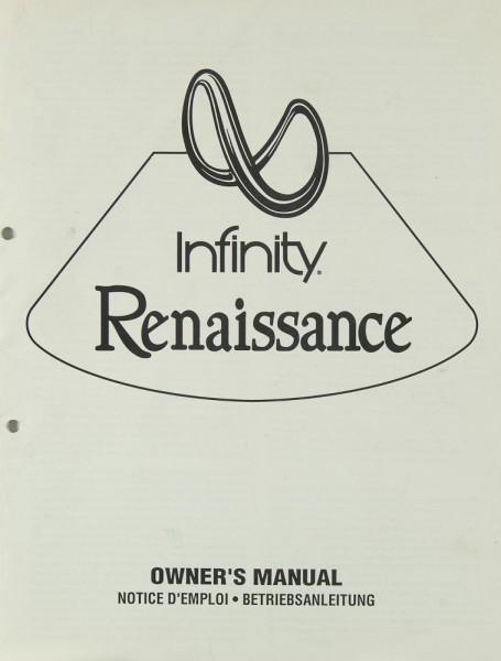 Infinity Renaissance Bedienungsanleitung
