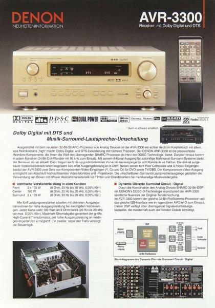 Denon AVR-3300 Prospekt / Katalog