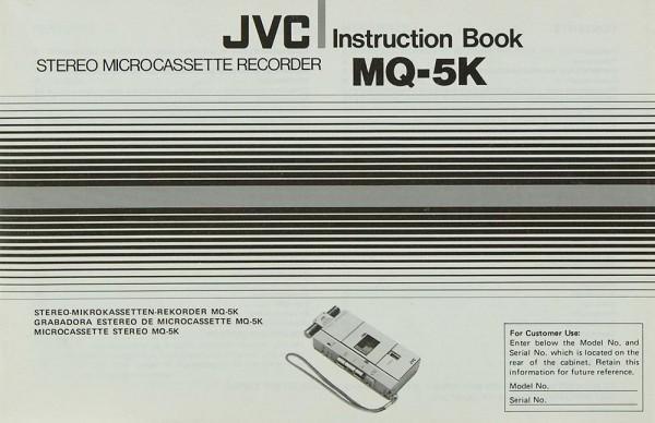 JVC MQ-5 K Bedienungsanleitung