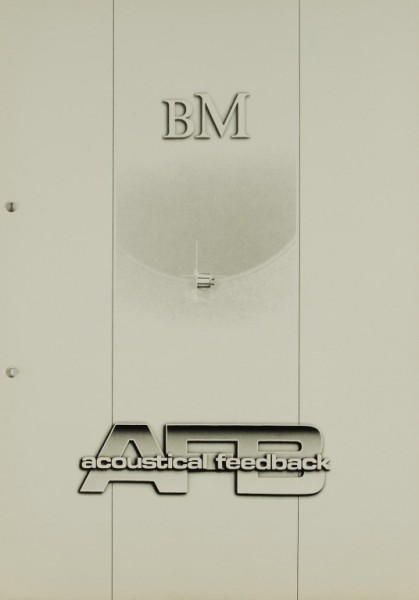 BM / Acoustical Feedback AFB - Das Konzept / Delta / Omega / Sigma Prospekt / Katalog