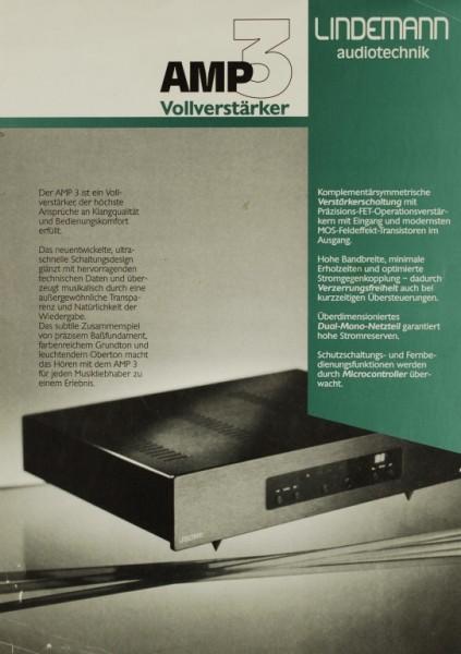 Lindemann audiotechnik AMP 3 Prospekt / Katalog